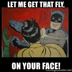 Batman Slappp - let me get that fly, on your face!