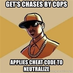 Gta Player - Get's chases by cops Applies cheat code to neutralize
