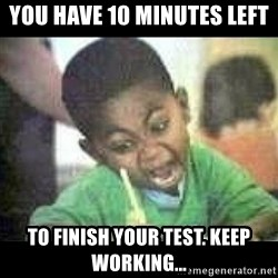 Black kid coloring - You have 10 minutes left to finish your test. Keep working...