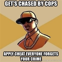 Gta Player - get's chased by cops apply cheat everyone forgets your crime
