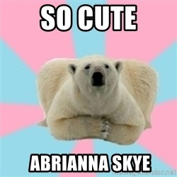 Perfection Polar Bear - so cute  Abrianna Skye