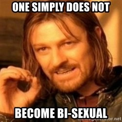ODN - ONE SIMPLY DOES NOT BECOME BI-SEXUAL