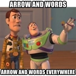 Toy story - Arrow and words arrow and words everywhere