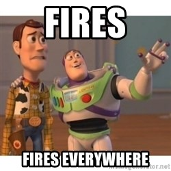 Toy story - Fires Fires Everywhere