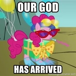 pinkie pie dragonshy - our god has arrived