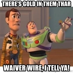 Toy story - There's gold in them thar waiver wire, I tell ya!