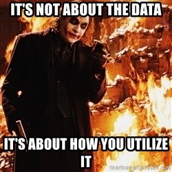 It's about sending a message - it's not about the data It's about how you utilize it