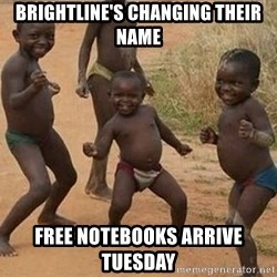 Dancing african boy - BRIGHTLINE'S CHANGING THEIR NAME FREE NOTEBOOKS ARRIVE TUESDAY