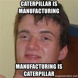 10guy - Caterpillar is manufacturing manufacturing is Caterpillar