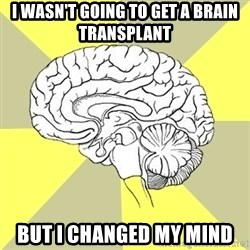 Traitor Brain - I wasn't going to get a brain transplant But i changed my mind