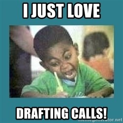 I love coloring kid - I JUST LOVE DRAFTING CALLS!