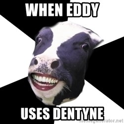 Restaurant Employee Cow - when eddy uses dentyne