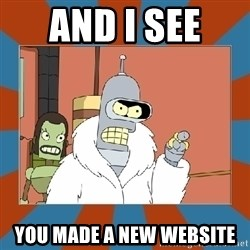 Blackjack and hookers bender - and i see  you made a new website