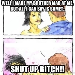 Alpha Boyfriend - Well I made my brother mad at me. But all I can say is somet.. shut up bitch!!