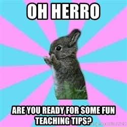yAy FoR LifE BunNy - Oh herro Are you ready for some fun teaching tips?
