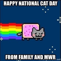 Irresponsible Nyan Cat - HAPPY NATIONAL CAT DAY FROM FAMILY AND MWR