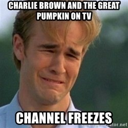 Crying Dawson - Charlie Brown and the Great Pumpkin on TV Channel freezes