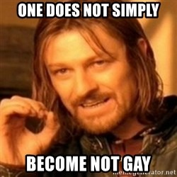 ODN - One does not simply become not gay