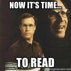 will ferrell - now it's time... to read