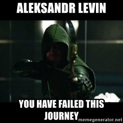 YOU HAVE FAILED THIS CITY - Aleksandr Levin You have failed this journey
