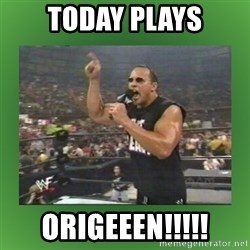 The Rock It Doesn't Matter - today plays ORIGEEEN!!!!!