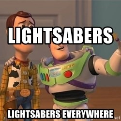 Anonymous, Anonymous Everywhere -           Lightsabers                Lightsabers everywhere