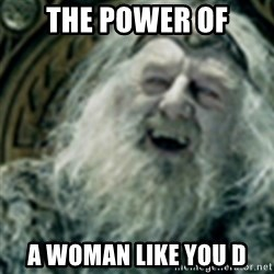 you have no power here - The power of A woman like you D