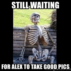 Still Waiting - Still waiting For alex to take good pics