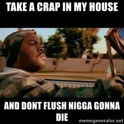 Ice Cube- Today was a Good day - take a crap in my house and dont flush nigga gonna die