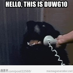 Hello This is Dog - Hello, this is DUWG10