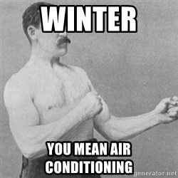 overly manly man - Winter  You mean air conditioning