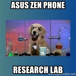 Chemistry Dog - Asus Zen Phone Research lab