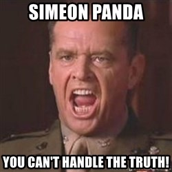 Jack Nicholson - You can't handle the truth! - Simeon Panda You can't handle the truth!