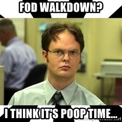 Dwight from the Office - FOD Walkdown? I Think it's POOP time...