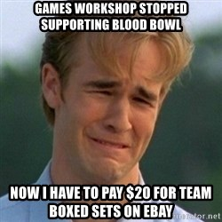 90s Problems - Games Workshop stopped supporting Blood Bowl Now I have to pay $20 for team boxed sets on ebay