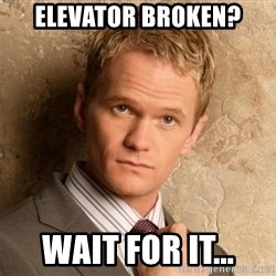 BARNEYxSTINSON - Elevator broken? Wait for it...
