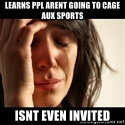 crying girl sad - LEARNS PPL ARENT GOING TO CAGE AUX SPORTS ISNT EVEN INVITED