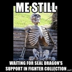 Still Waiting - Me still Waiting for Seal dragon's support in fighter collection