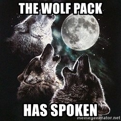 Lone Wolf Pack - the wolf pack has spoken