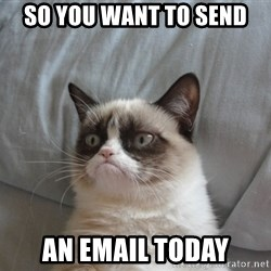 Grumpy cat good - So you want to send an email today