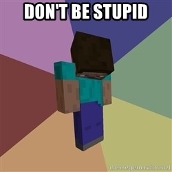Depressed Minecraft Guy - Don't be stupid