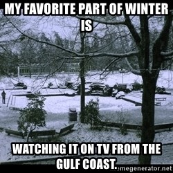 UVIC SNOWDAY - My favorite part of winter is watching it on TV from the Gulf Coast.