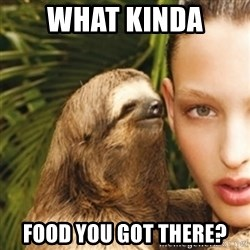 sexy sloth - what kinda  food you got there?