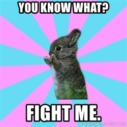 yAy FoR LifE BunNy - you know what? fight me.