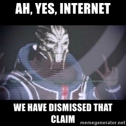 Ah, Yes, Reapers - Ah, yes, Internet We have dismissed that claim