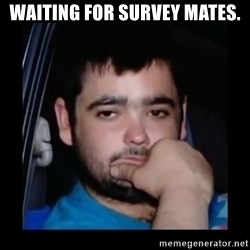 just waiting for a mate - Waiting for survey mates.