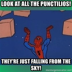 60's spiderman - Look at all the punctilios! They're just falling from the sky!