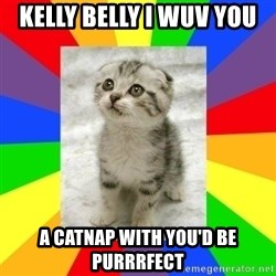 Cute Kitten - Kelly Belly I wuv you  A Catnap with you'd be purrrfect