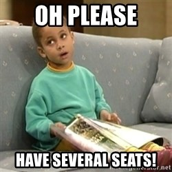 Olivia Cosby Show - Oh Please Have several seats!