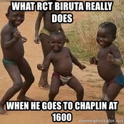 Dancing African Kid - what rct biruta really does when he goes to chaplin at 1600